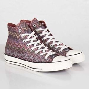 Missoni Converse High Top Sneakers Woman's Sz 6.5